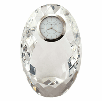 Rhapsody Mosaic Crystal Desk Clock by Howard Miller