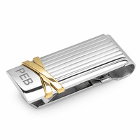 Ribbon Engraved Spring Loaded Money Clip