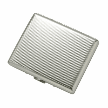 Ribbon Striped Double Sided Design Cigarette Case for Kings and 100s
