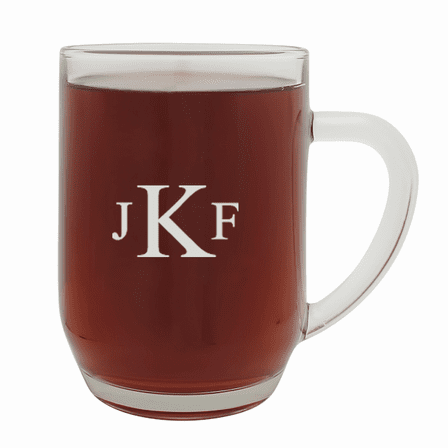 Roman Monogram   20 Ounce Barrel Mug with Handle