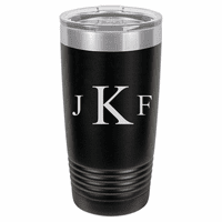 Roman Monogram 20 Ounce Black Polar Camel Travel Mug