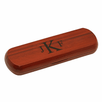 Roman Monogram  Cherrywood Double Pen and Box Set