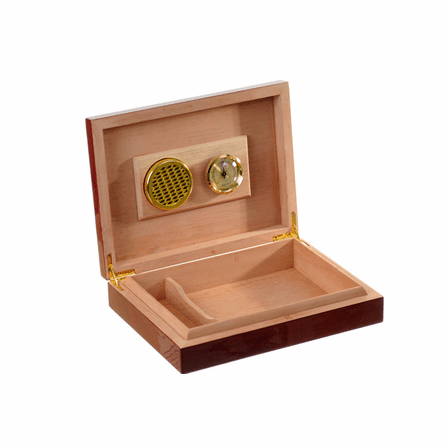 Roman Monogram  Piano Finish 30 Cigar  Humidor