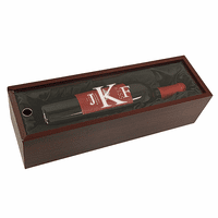 Roman Monogram  Single Bottle Wine Presentation Box with See-Through Lid