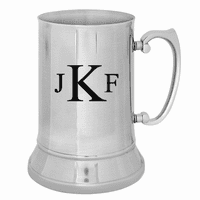 Roman Monogram   Stainless Steel Beer Mug - Discontinued