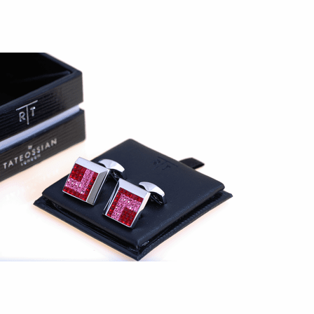 Rose Square Slant SW Collection Cufflinks by Tateossian