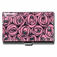 """Roses & Teardrops"" Business Card Case"
