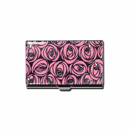 """""""Roses & Teardrops"""" Business Card Case"""