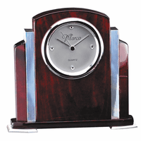 Rosewood & Aluminum Personalized Step Design Clock