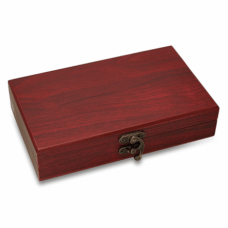 Rosewood Finish Personalized Cards & Dice Set