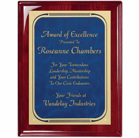 Rosewood Plaque With  Blue Marble Engraving Plate - RP157