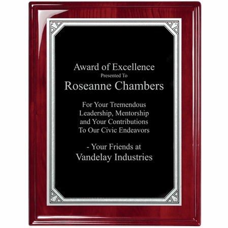 Rosewood Plaque With Florentine Engraving Plate - RP130