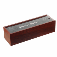 Rosewood Single Bottle Wine Presentation Box with See-Through Lid
