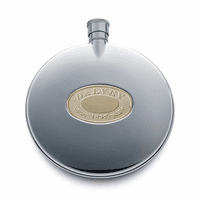 Round Flask with Gold Accent by Dalvey