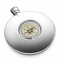 Round Flask With Inset Compass by Dalvey