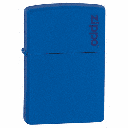 Royal Blue Matte with Zippo Logo Zippo Lighter - ID# 229ZL