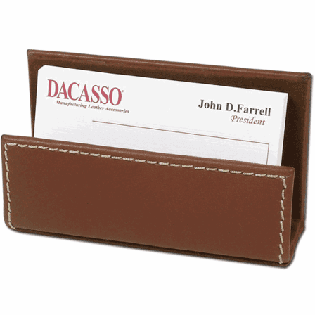 Rustic Leather Business Card Holder