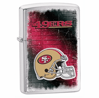 San Francisco 49ers NFL Brushed Chrome Zippo Lighter - ID# Z782
