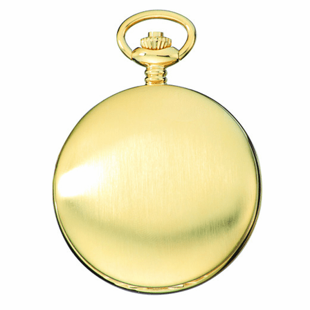 Satin Gold Charles Hubert Pocket Watch & Chain #3906-G