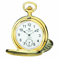 Satin Gold Charles Hubert Pocket Watch & Chain #3908-GRR