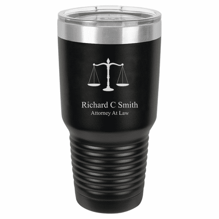 Scales of Justice Emblem Personalized 30 Ounce Tumbler