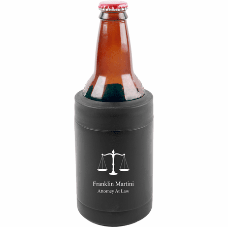 Scales of Justice Emblem Personalized Insulated Can & Bottle Holder
