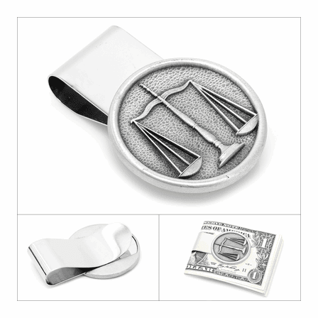 Scales Of Justice French Fold Money Clip