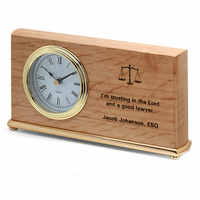 Scales of Justice Lawyer's Desk Clock