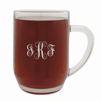 Script Monogram   20 Ounce Barrel Mug with Handle