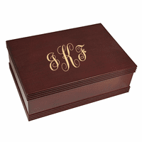 Script Monogram   Desktop Keepsake Box