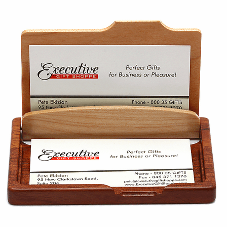 Script Monogram Pocket/Desktop Business Card Holder
