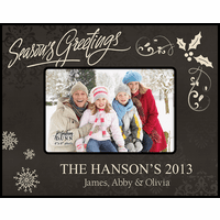 "Season's Greetings Personalized 4"" x 6"" Picture Frame"