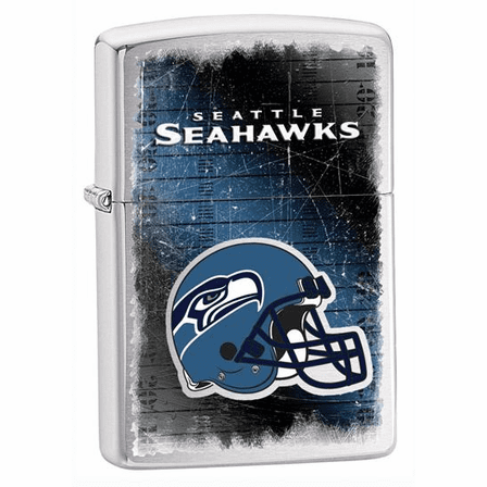 Seattle Seahawks NFL Brushed Chrome Zippo Lighter - ID# 28611