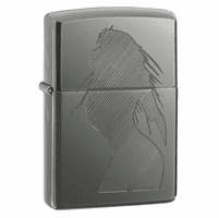 Seductive Silhouette Black Ice Zippo Lighter - ID# 20762