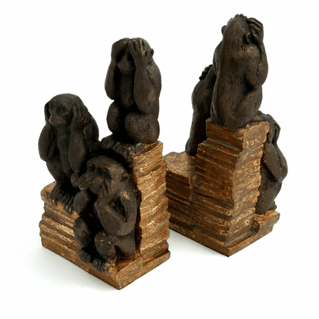 See No Evil Bookends
