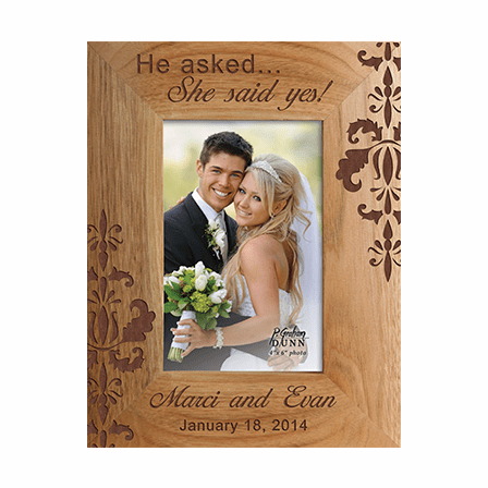 "She Said Yes 4"" x 6"" Personalized Picture Frame"