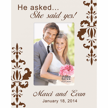 She Said Yes Personalized 4 X 6 Picture Frame Executive Gift Shoppe