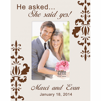 "She Said Yes Personalized 4"" x 6"" Picture Frame"