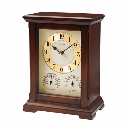 Sherwood Table Clock and Weather Station by Bulova