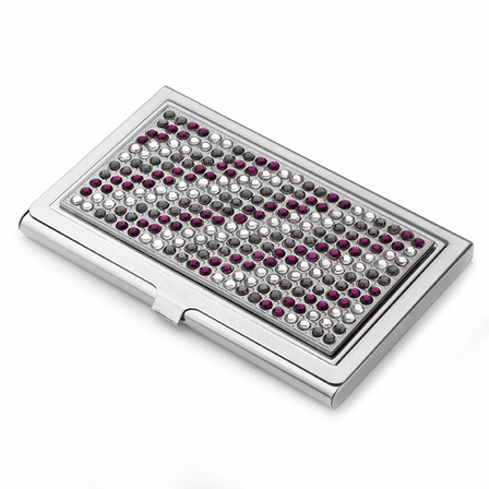Shimmering Crystals Business Card Case