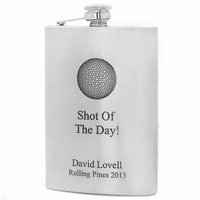 Shot Of The Day Personalized Golf Flask