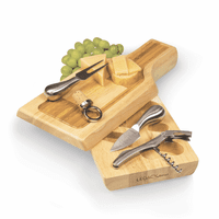 Silhouette Wine And Cheese Cutting Board