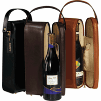 Single Wine Bottle Leather Carrier & Presentation Case