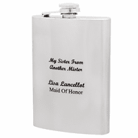 Sister From Anther Mister Engraved Flask