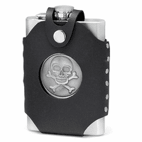 Skull & Cross Bones Flask With Holster