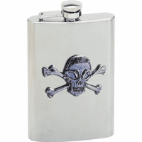Skull & Crossbones 8 Ounce Flask - Discontinued