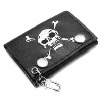 Skull & Crossbones Trifold Wallet - Discontinued