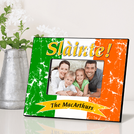 Slainte Pride Of The Irish Personalized Picture Frame