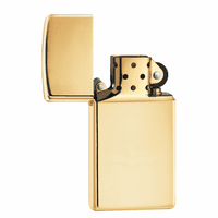 Slim High Polish Brass Zippo Lighter - ID# 1654B