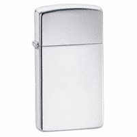 Slim High Polish Chrome Zippo Lighter - ID# 1610
